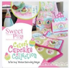 Sweet Pea Cupcake Collection CD Embroidery designs